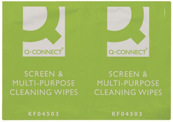 Q-Connect Feuchte Reinigungstücher getränkt 100 Stück