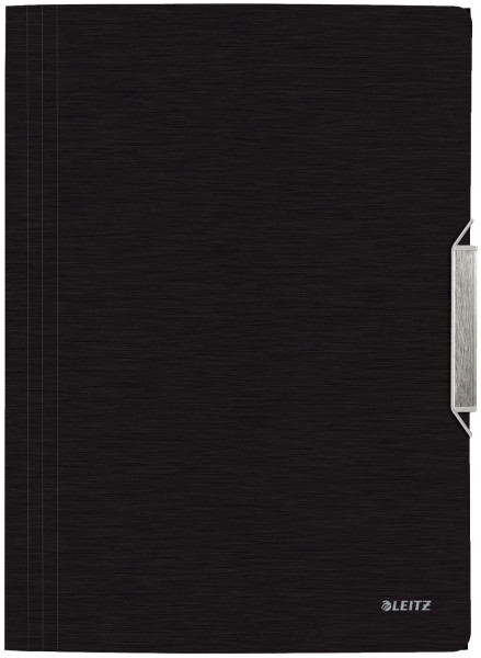 3977 Eckspannermappe Style, A4, PP, satin schwarz