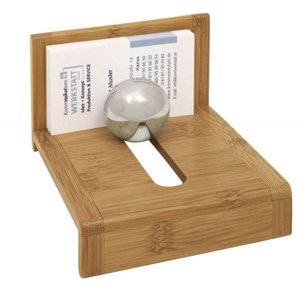 Visitenkartenhalter - Bambus