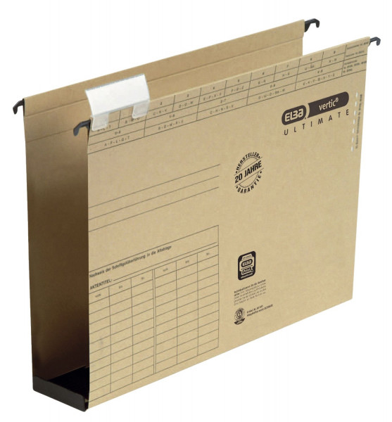 Hängesammler vertic® ULTIMATE®, A4 Kunststoffboden, Bodenbreite 60 mm