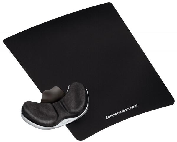 Handballenauflage Health-V, mit Stoffbezug, Kunststoff, 19x228x279mm, schwarz