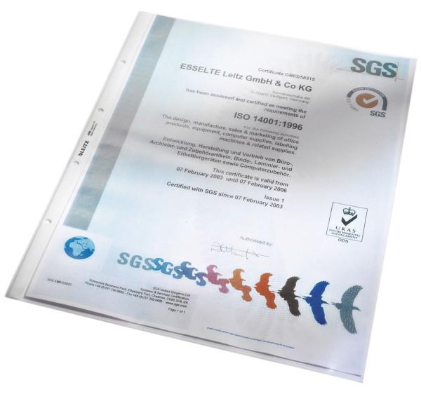 Leitz 4702 Prospekthülle A3 Standard, hoch, PP, genarbt, farblos