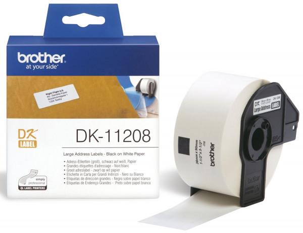 DK-Einzeletiketten Papier-Etiketten 400 Adress-Etiketten 38x90 mm