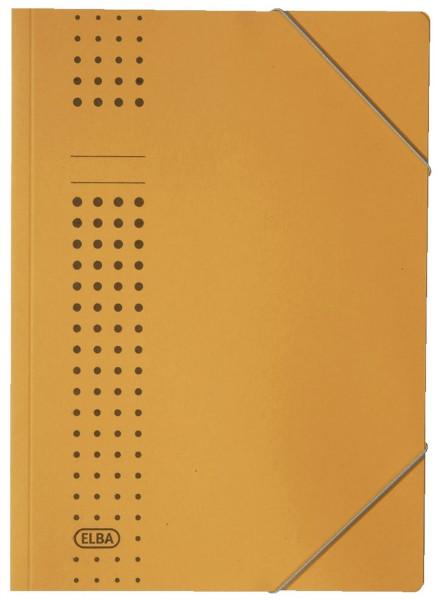 Elba Eckspanner chic, gelb Karton (RC), 320 g/qm, A4