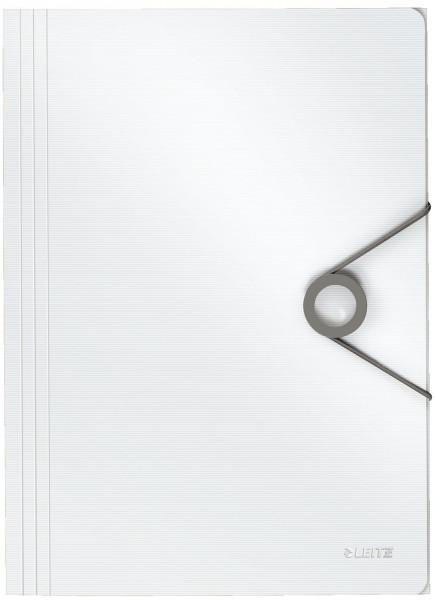 4563 Dreiflügelmappe Solid - A4, PP, weiß