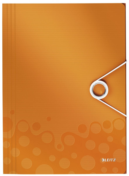 4599 Eckspannermappe WOW - A4, PP, orange metallic