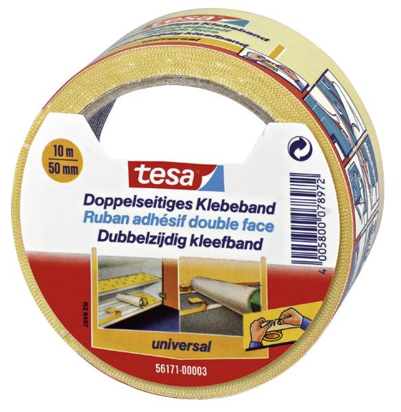 Tesa® 56171 Verlegeband / Klebeband doppelseitig 10 m x 50 mm universal