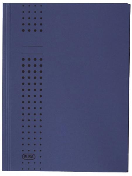 Sammelmappe chic, Karton (RC), 320 g/qm, A4, 10 mm, dunkelblau