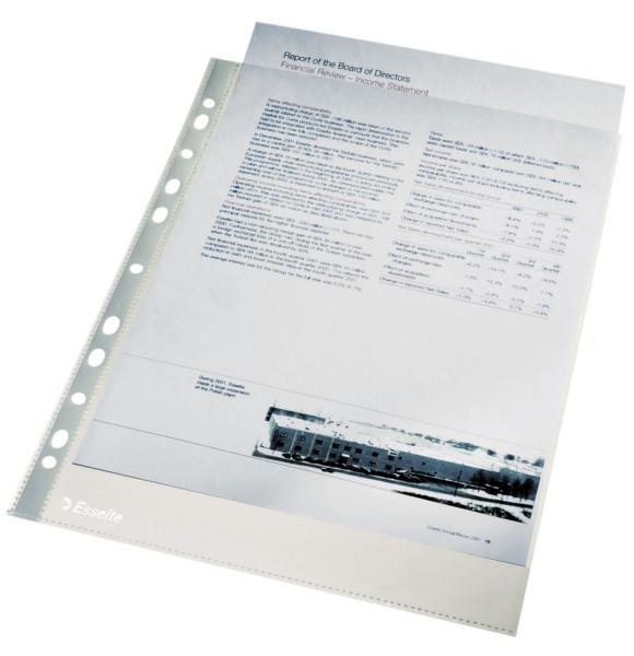 Esselte 13089 Prospekthüllen A4 glasklar, 0,04 mm, 100 Stück