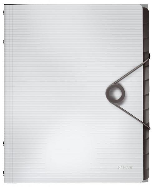 4570 Ordnungsmappe Solid - 12 Fächer, PP, weiß