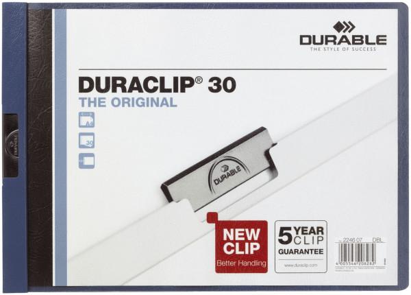 Klemm-Mappe DURACLIP® 30 QUERFORMAT, DIN A4, dunkelblau