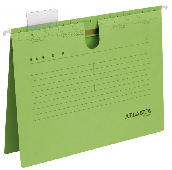 Atlanta Hängehefter grün Serie E, A4 kfm. Heftung, Kraftkarton 230 g/qm