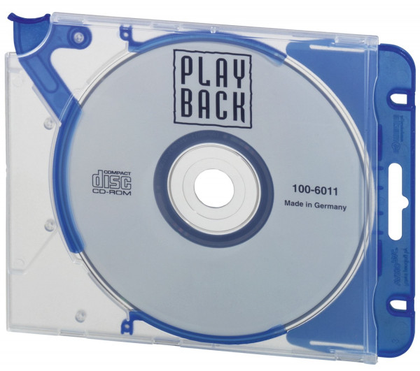 CD-Hardbox QUICKFLIP® COMPLETE, für 1 CD/DVD, blau, 5 Stück