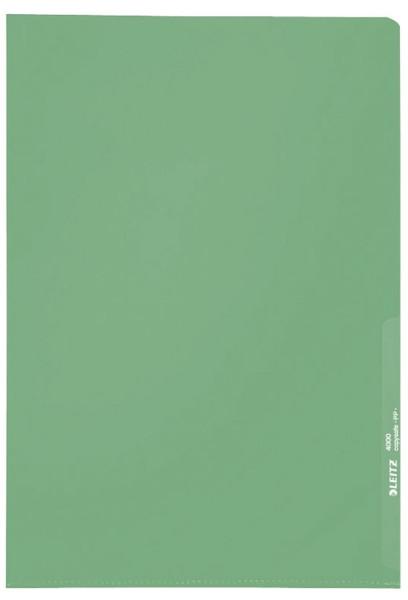 Leitz 4000 Standard Sichthülle grün, A4, PP-Folie, genarbt, 0,13 mm