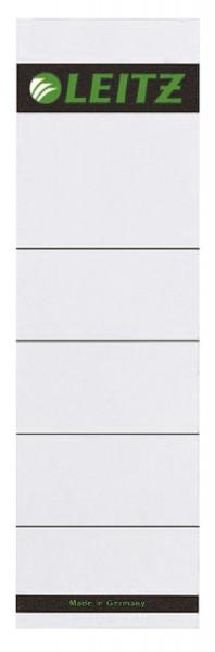 1607 Rückenschilder zum Einstecken - Karton, kurz/breit, 10 Stück, lichtgrau