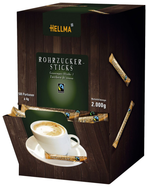 FAIRTRADE Rohrzucker-Sticks 500 x 4g