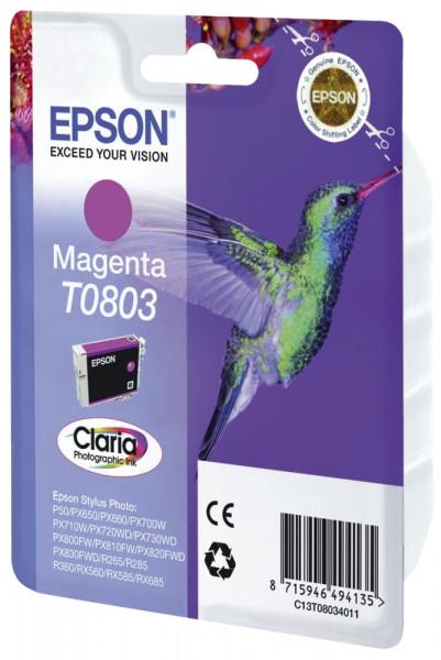 Epson T0803 Inkjet-Druckpatronen magenta, 220 Seiten, C13T08034011