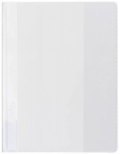 Durable Sichthefter DURALUX®,weiß A4 überbreit transparenter Deckel, Hartfolie