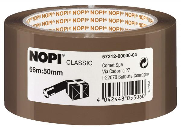 Nopi Verpackungsklebeband Classic, 50 mm x 66 m, braun