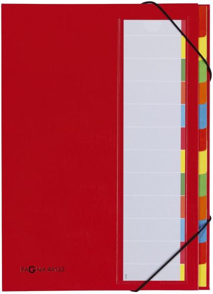Pagna® Deskorganizer mit 12 Fächern, rot