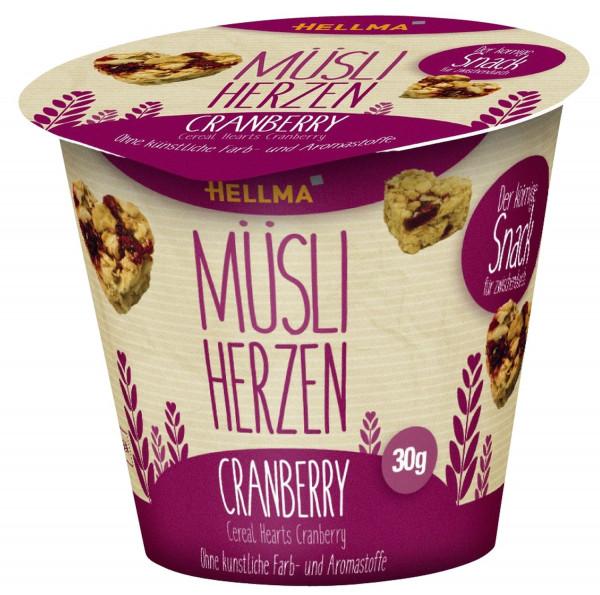 Hellma Müsli-Herzen Cranberry 30 x 30 g