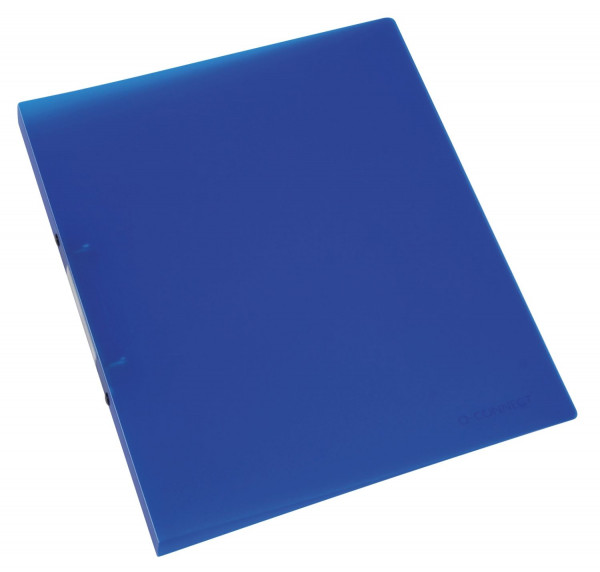 Q-Connect Ringbuch blau-transparent - A4, 2-Ring, Ring-Ø 16 mm