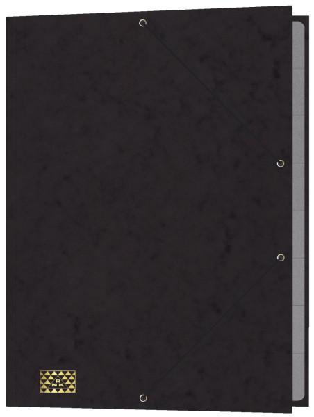 Konferenz- und Ordnungsmappe mit Gummizug, für DIN A4, 9 Fächer, schwarz