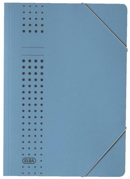 Elba Eckspanner chic, blau Karton (RC), 320 g/qm, A4