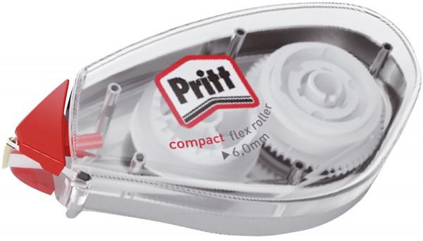 Pritt Einweg Korrekturroller Compact Flex, 6 mm x 10 m, transparent