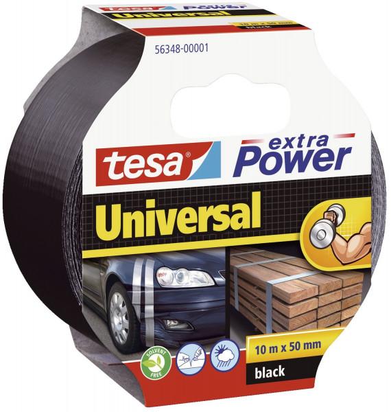 Gewebeklebeband extra Power Universal, 10 m x 50 mm, schwarz
