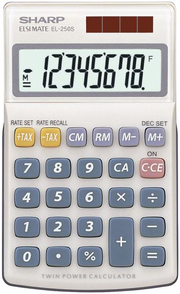 SHARP Taschenrechner EL250S - 8-stellig, beige