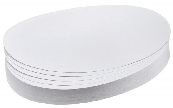 Moderationskarte, Oval, 190 x 110 mm, weiß, 500 Stück