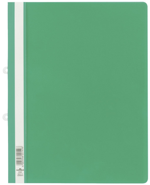 Durable 2580 Sichthefter grün mit Abheftschieber, A4, Hartfolie