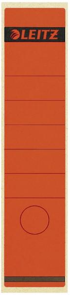 1640 Rückenschilder - Papier, lang/breit, 100 Stück, rot