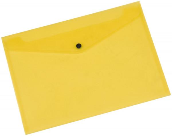 Q-Connect Dokumentenmappe transluzent gelb, A4 bis zu 50 Blatt