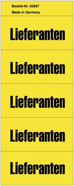 Inhaltsschilder Lieferanten - Beutel mit 100 Stück, gelb