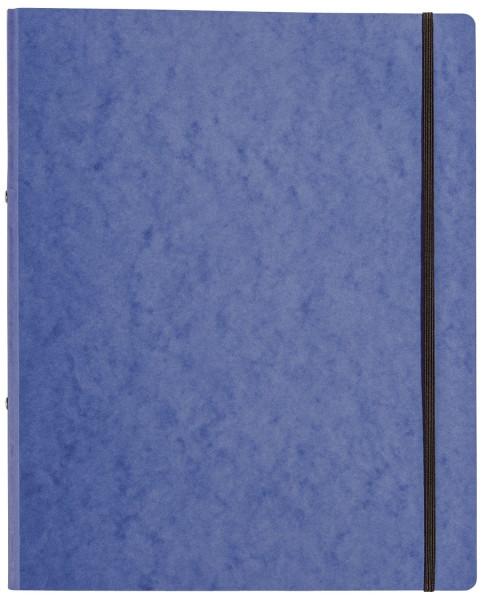 Ringbuch Pressspan - A4, 2-Ring, Ring-Ø 16mm, Gummizug, blau