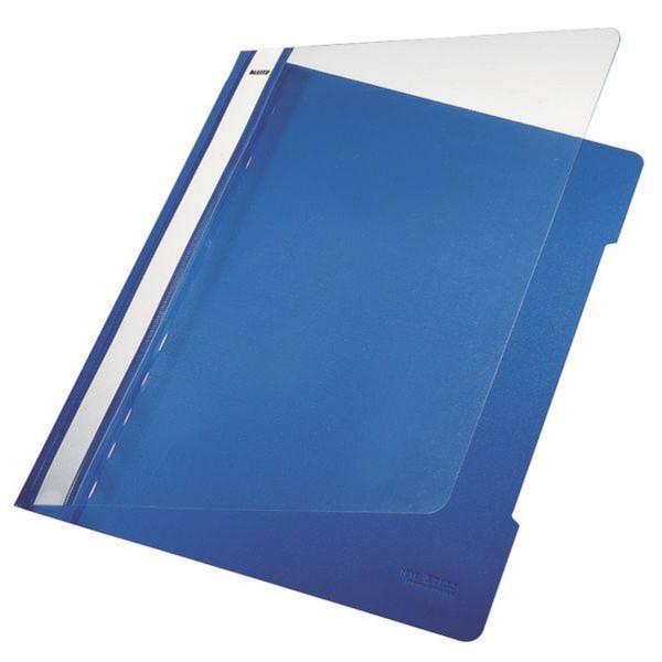 Leitz 4191 PVC Hefter blau Standard, A4, langes Beschriftungsfeld