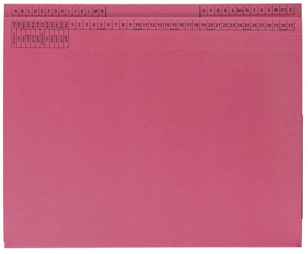 25 Kanzleihefter B ungefalzt RH/LH 1 Tasche, 1 Abheftvorrichtung, rot