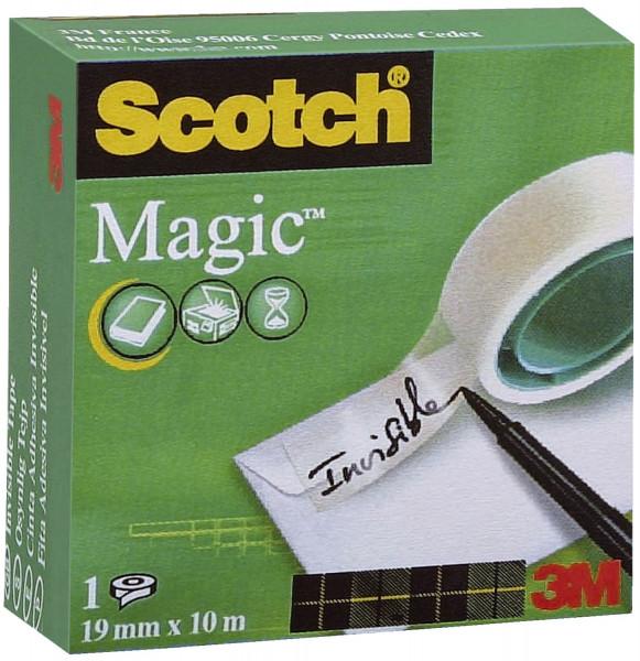 Scotch® Klebeband Magic 810, 10 m x 19 mm Zellulose Acetat, unsichtbar, beschriftbar