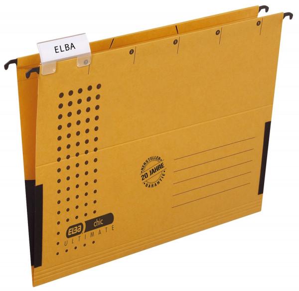 Elba Hängetasche chic ULTIMATE®, gelb, Karton (RC), 230 g/qm, A4