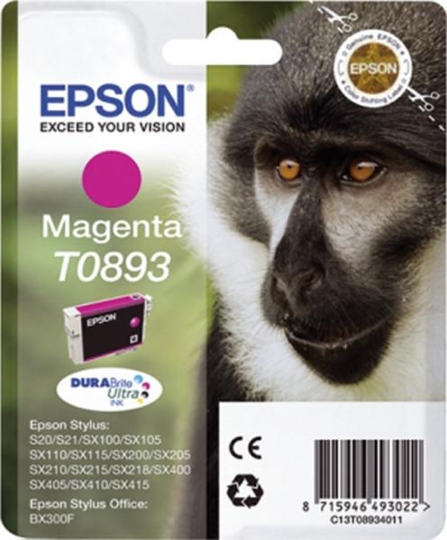 Epson T0893 Inkjet-Druckpatronen rot, 220 Seiten, C13T08934011
