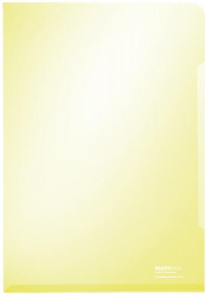 Leitz 4153 Sichthülle Super Premium, A4, PVC, dokumentenecht, gelb