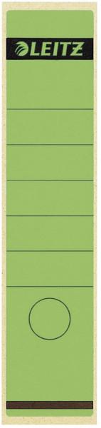 1640 Rückenschilder - Papier, lang/breit, 10 Stück, grün