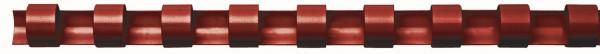 Plastik-Binderücken, 12 mm, für 95 Blatt, rot, 100 Stück