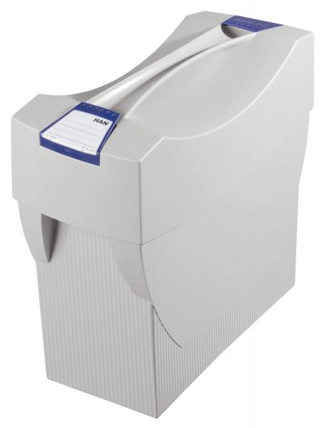 Hängemappenbox SWING-PLUS mit Deckel, für 20 Hängemappen, lichtgrau