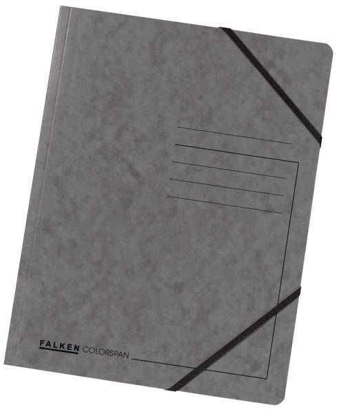 Falken Eckspanner A4 Colorspan intensiv dunkelgrau, Karton 355 g/qm