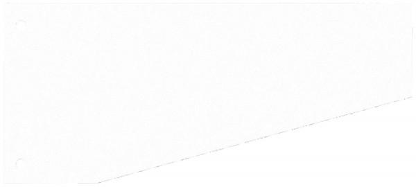 WEKRE Trennstreifen Trapez 190g Karton, weiß, 100 Stück