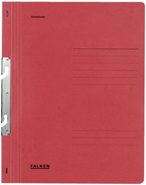 Falken Einhakhefter A4 rot ganzer Vorderdeckel kfm. Heftung, Manilakarton, 250 g/qm