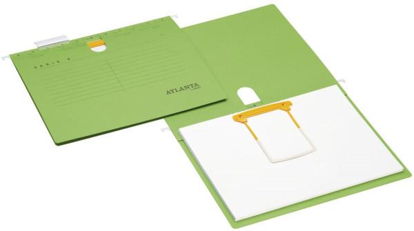 Atlanta Hängehefter grün Serie E + Clip - A4, Schlauchheftung,